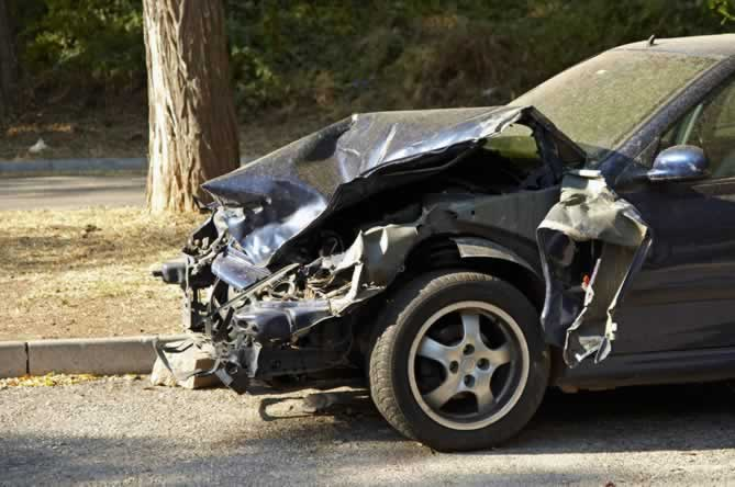 At fault driver's vehicle in car accident